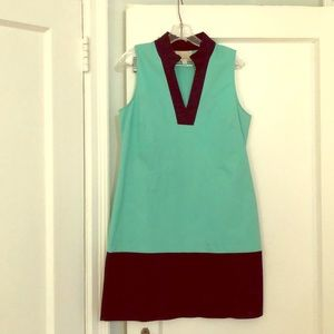 Sail to Sable tunic dress in turquoise and navy